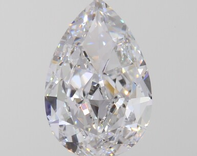 A 1.01 Carat Pear-Shaped Diamond, D Color, Interally Flawless