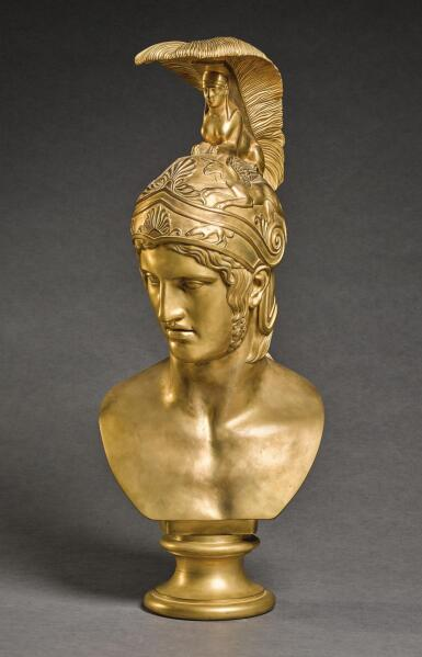 LUIGI RIGHETTI (1780-1852), ITALIAN, ROME, DATED 1821, PROBABLY CAST FOR THE WORKSHOP OF ANTONIO CANOVA (1757-1822), AFTER THE ANTIQUE | BUST OF ACHILLES