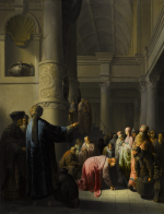 WILLEM DE POORTER   CHRIST AND THE WOMAN TAKEN IN ADULTERY