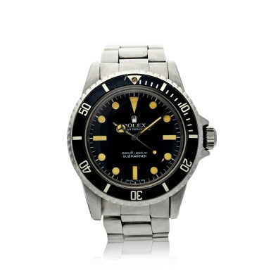 View 1. Thumbnail of Lot 286. REFERENCE 5513 SUBMARINER A STAINLESS STEEL AUTOMATIC WRISTWATCH WITH BRACELET, CIRCA 1977.