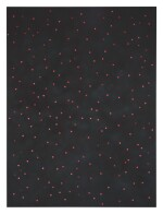 SCOTT REEDER   UNTITLED (BLACK WITH RED PENNIES)