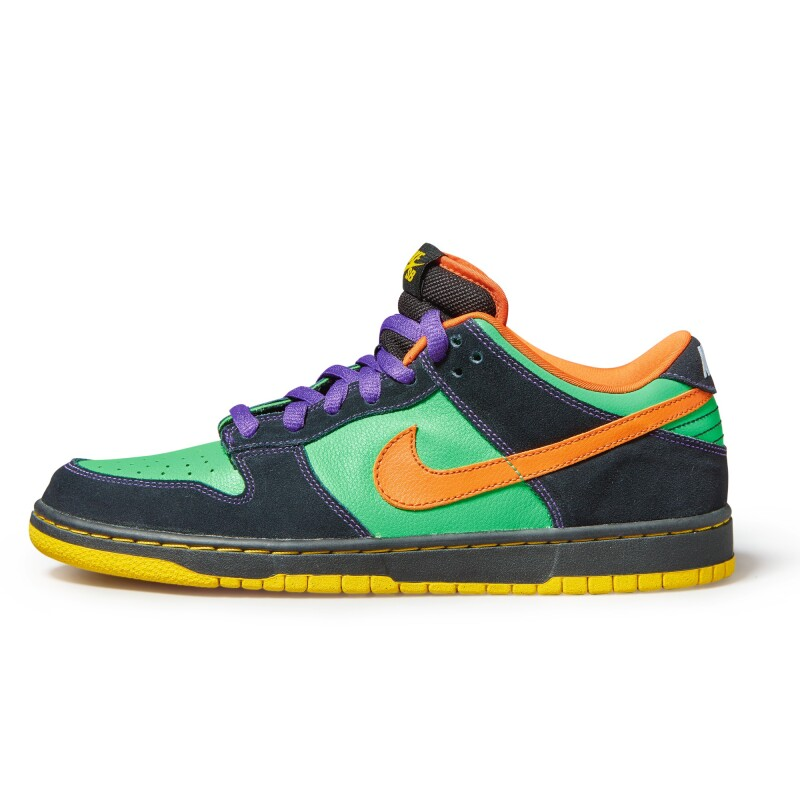 Nike Dunk SB Low Premium Green Spark Hoop Orange