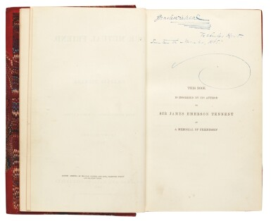 Dickens, Our Mutual Friend, 1865, first book edition, presentation copy inscribed to Kent