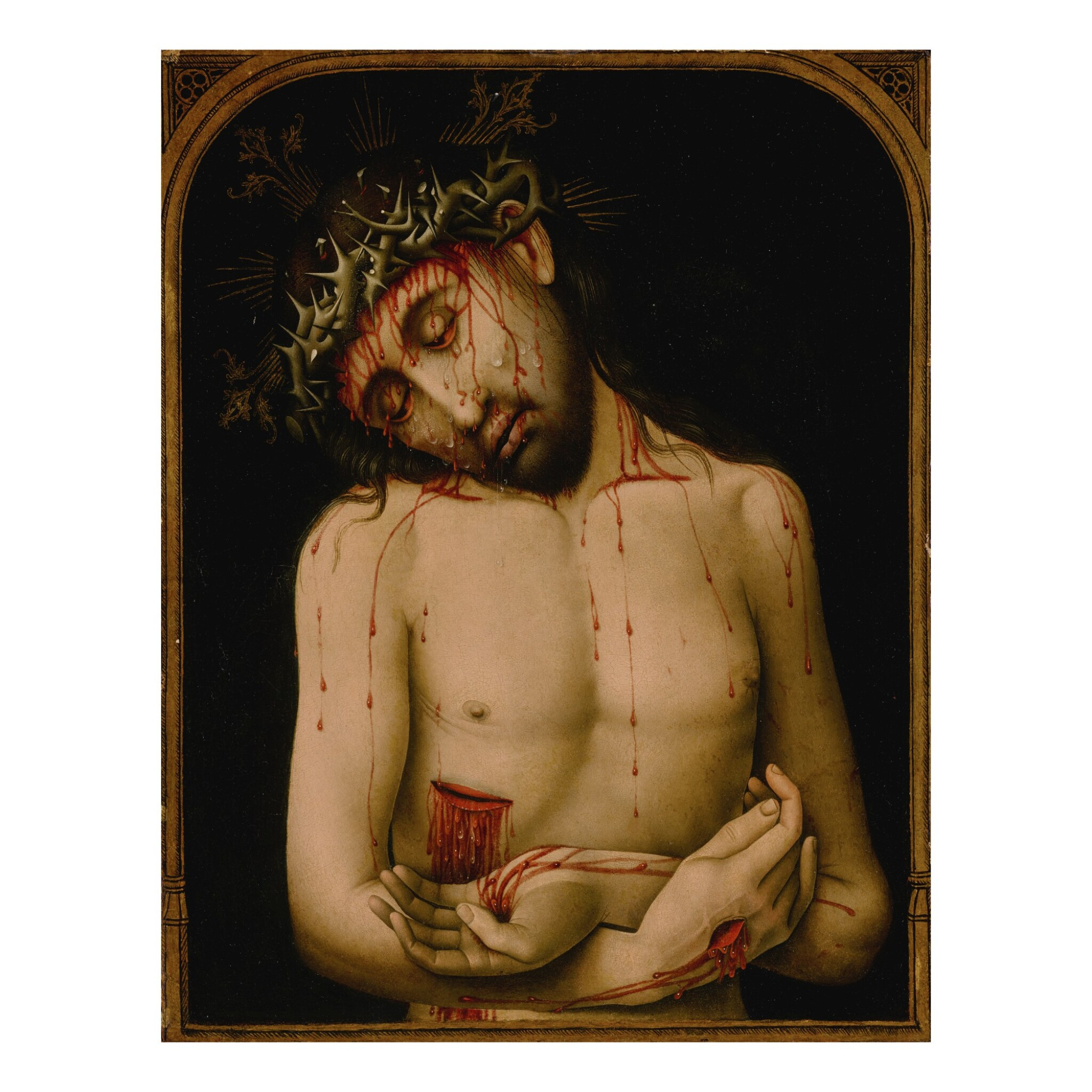 View full screen - View 1 of Lot 10. Christ as the Man of Sorrows.