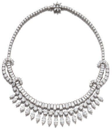 View 1. Thumbnail of Lot 63. DIAMOND NECKLACE, 1950S.
