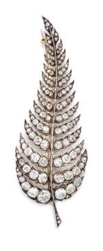 DIAMOND BROOCH, LATE 19TH CENTURY | 鑽石別針, 19世紀後期