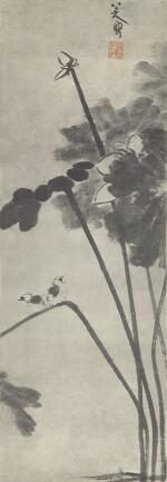 BADA SHANREN 1626-1705 八大山人 | LOTUS 荷花雙鳥