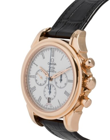 OMEGA   DE VILLE CO-AXIAL, REF 46432032 LIMITED EDITION PINK GOLD CHRONOGRAPH WRISTWATCH WITH DATE CIRCA 2002