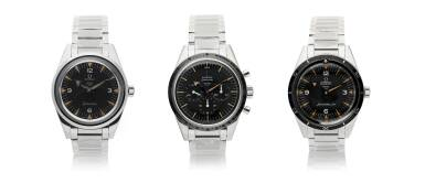 View 1. Thumbnail of Lot 12. OMEGA | THREE 60TH ANNIVERSARY LIMITED EDITION STAINLESS STEEL WRISTWATCHES, CIRCA 2017 |  SPEEDMASTER REF 311.10.39.30.01.002 A LIMITED EDITION STAINLESS STEEL CHRONOGRAPH WRISTWATCH WITH BRACELET, CIRCA 2017 .