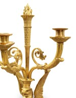 A PAIR OF EMPIRE GILT-BRONZE WALL LIGHTS, ATTRIBUTED TO CLAUDE GALLE, CIRCA 1810 [PAIRE D'APPLIQUES EN BRONZE DORE D'EPOQUE EMPIRE, VERS 1810, ATTRIBUEE A CLAUDE GALLE]