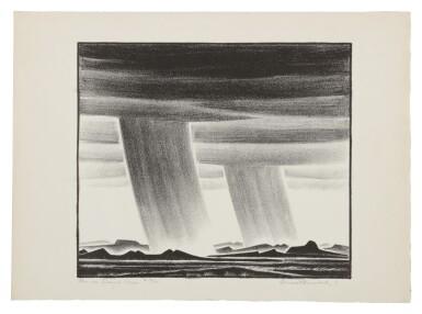 View 1. Thumbnail of Lot 143. Rain Over Desert Mesas.