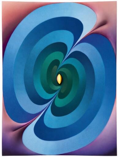 View 1. Thumbnail of Lot 3. Loie Hollowell 洛伊・霍洛韋爾  | Linked Lingams (yellow, green, blue, purple, pink) 連接的林伽(黃,綠,藍,紫,粉紅色).