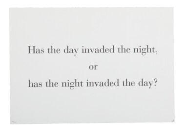 LOUISE BOURGEOIS   HAS THE DAY INVADED THE NIGHT (FROM WHAT IS THE SHAPE OF THIS PROBLEM?) [IN 2 PARTS]
