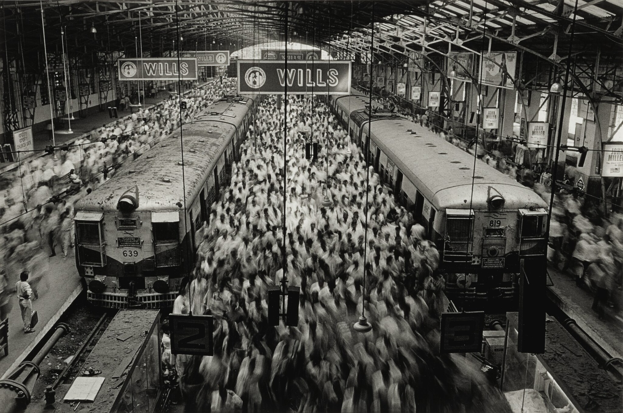 View full screen - View 1 of Lot 111. Churchgate Station, Western Railroad Line, Bombay, India.