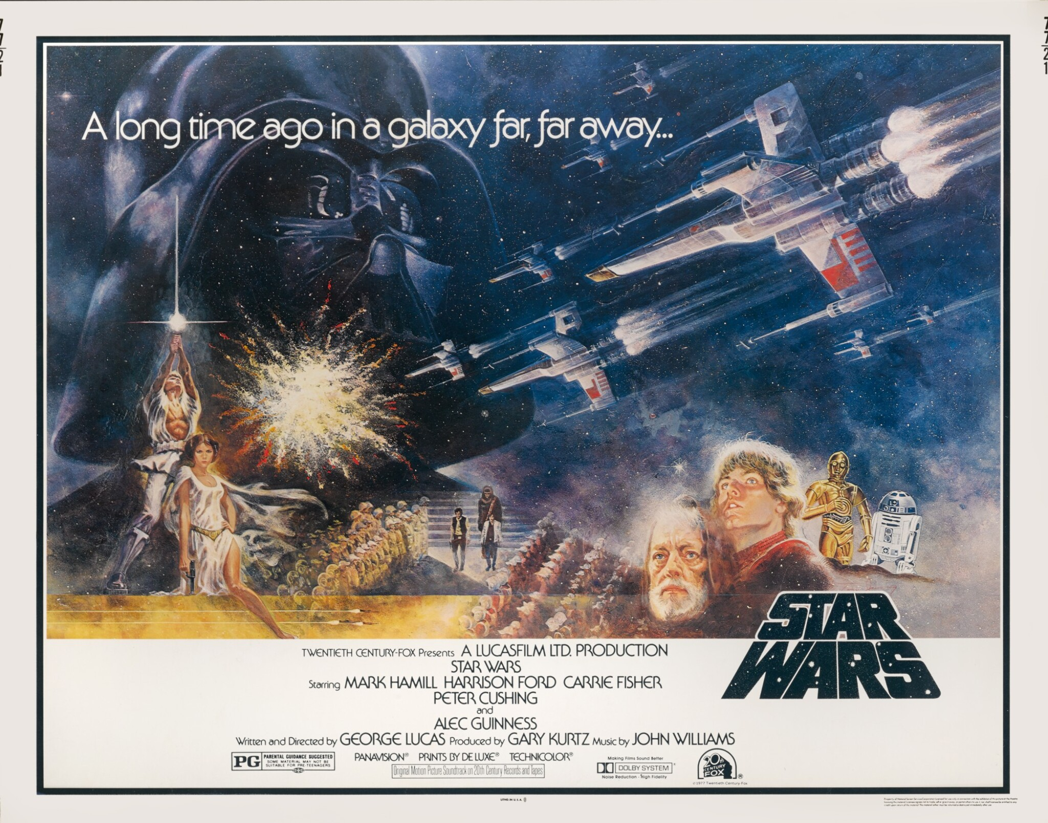 View full screen - View 1 of Lot 115. STAR WARS (1977) POSTER, US.