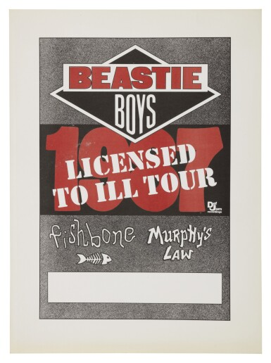 "BEASTIE BOYS | ""LICENSED TO ILL"" CONCERT POSTER, 1987"