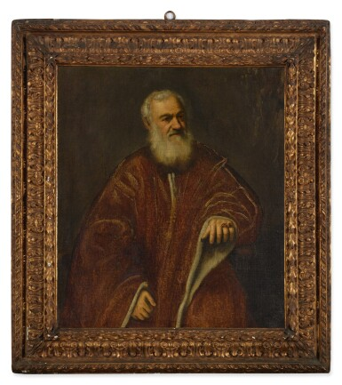 View 2. Thumbnail of Lot 1. ATTRIBUTED TO JACOPO ROBUSTI, CALLED JACOPO TINTORETTO AND WORKSHOP   PORTRAIT OF A VENETIAN SENATOR.