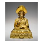 A GILT COPPER ALLOY FIGURE OF CHANGKYA ROLPAI DORJE,  TIBET, 18TH CENTURY