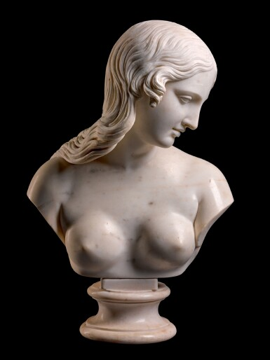 EDWARD HODGES BAILY (1788-1867), BRITISH, MID-19TH CENTURY   BUST OF EVE