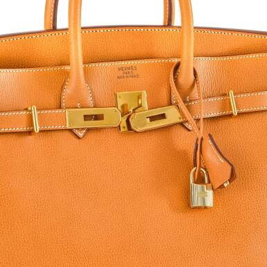 View 5. Thumbnail of Lot 59. Gold HAC Birkin 32cm in Ardennes Leather with Gold Hardware, 2004.
