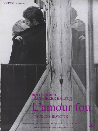 L'AMOUR FOU (1969) POSTER, FRENCH