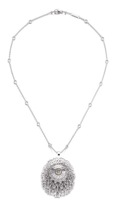 View 3. Thumbnail of Lot 645. Graff | Diamond pendent necklace | 格拉夫 | 鑽石吊墜項鏈.