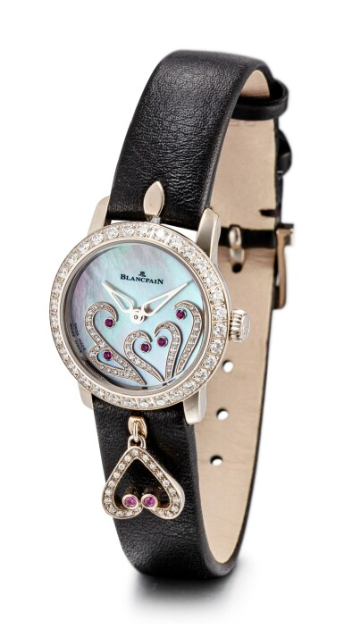 View 2. Thumbnail of Lot 1102. BLANCPAIN | LADYBIRD, REFERENCE 0063B-1954-63A A WHITE GOLD, DIAMOND AND RUBY-SET WRISTWATCH WITH MOTHER-OF-PEARL DIAL, CIRCA 2017.