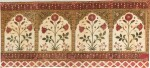 A TENT (QANAT) PANEL WITH FOLIATE STEMS WITHIN NICHES, NORTH INDIA, 17TH CENTURY