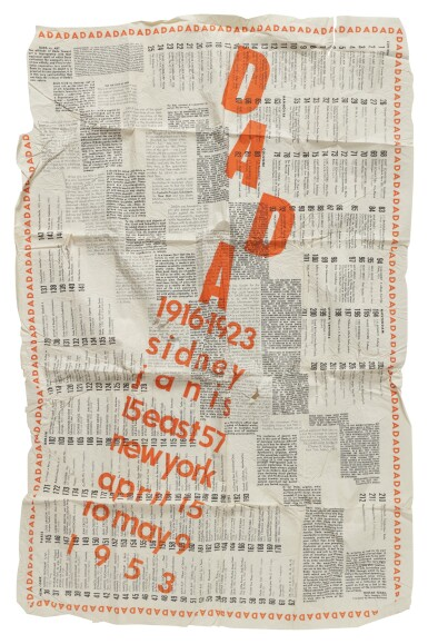 View 1. Thumbnail of Lot 11. DADA: 1916–1923. NEW YORK: SIDNEY JANIS GALLERY, 1953.