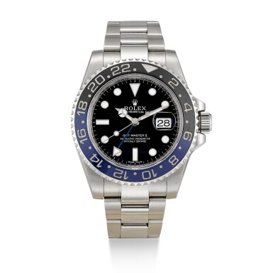 ROLEX  |  'BATMAN' GMT-MASTER II, REFERENCE 116710BLNR,  A STAINLESS STEEL DUAL TIME ZONE WRISTWATCH WITH DATE AND BRACELET, CIRCA 2013