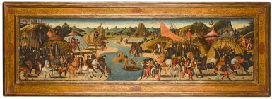 View 2. Thumbnail of Lot 23. PAOLO UCCELLO  |  BATTLE ON THE BANKS OF A RIVER, PROBABLY THE BATTLE OF THE METAURUS (207 BCE) .