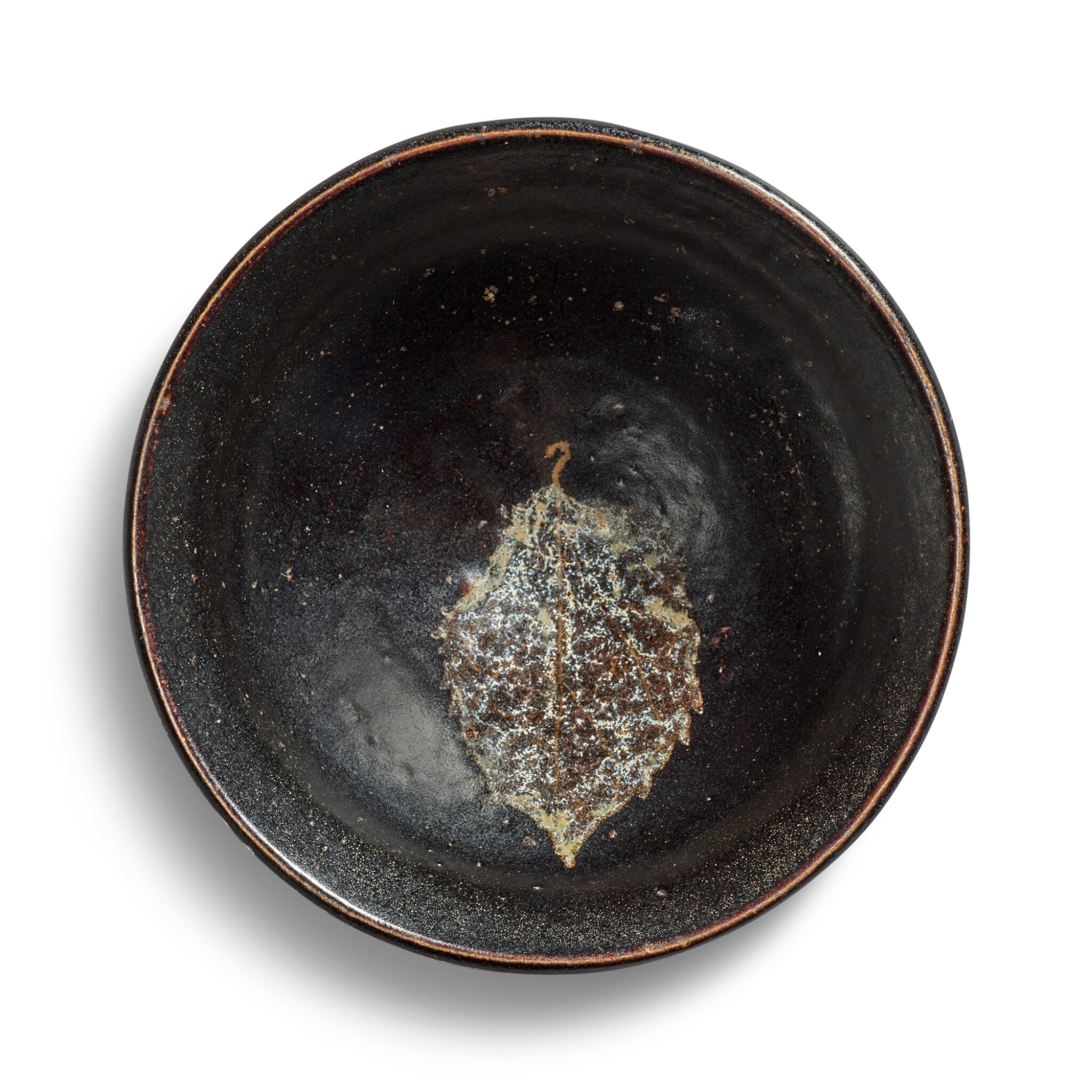 View full screen - View 1 of Lot 103. A 'Jizhou' 'leaf' bowl, Song dynasty.