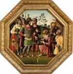 SCHOOL OF ROMAGNA, CIRCA 1500 | JULIUS CAESAR RECEIVING THE HEAD OF POMPEY