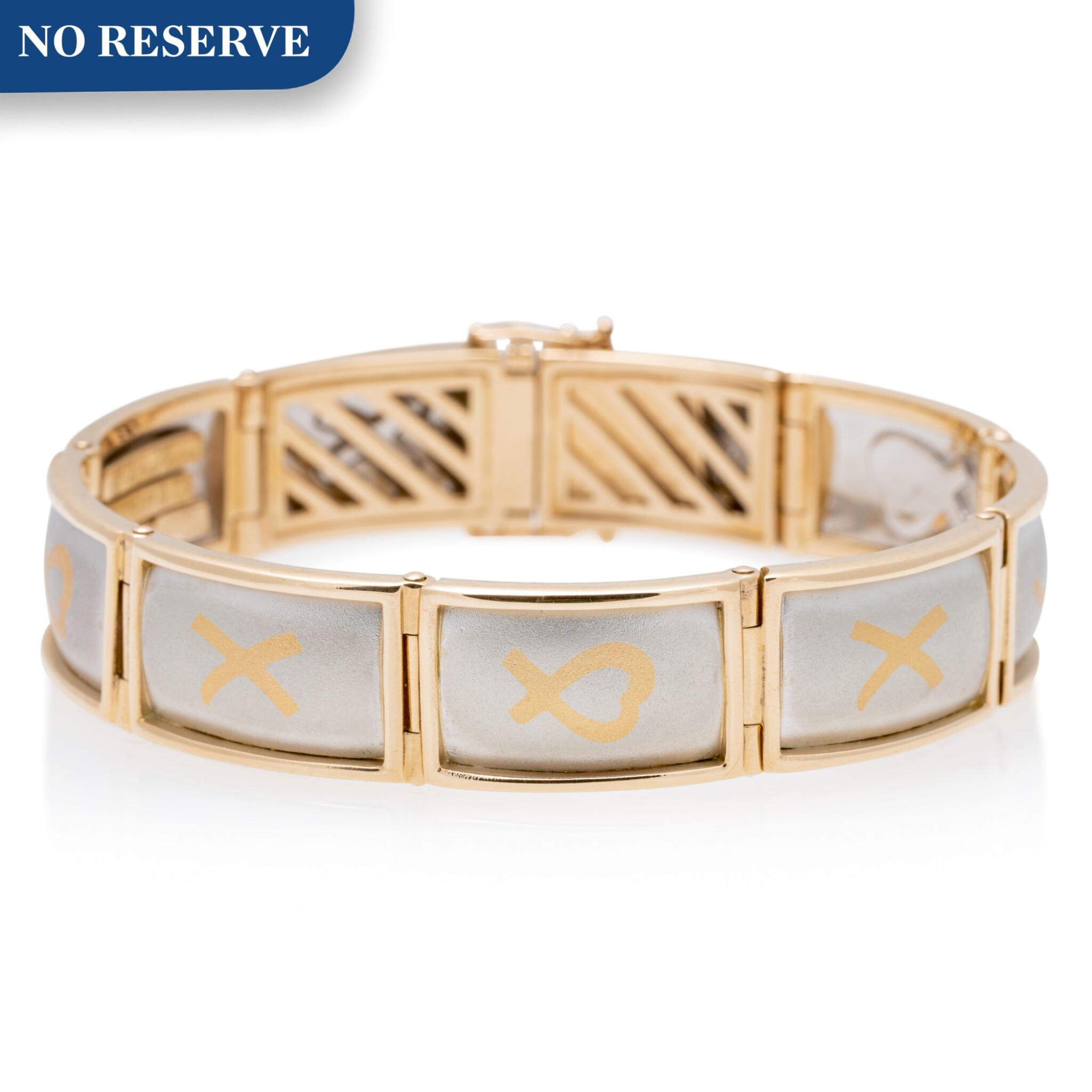View full screen - View 1 of Lot 4. TIFFANY & CO. | GOLD AND PLATINUM BRACELET.
