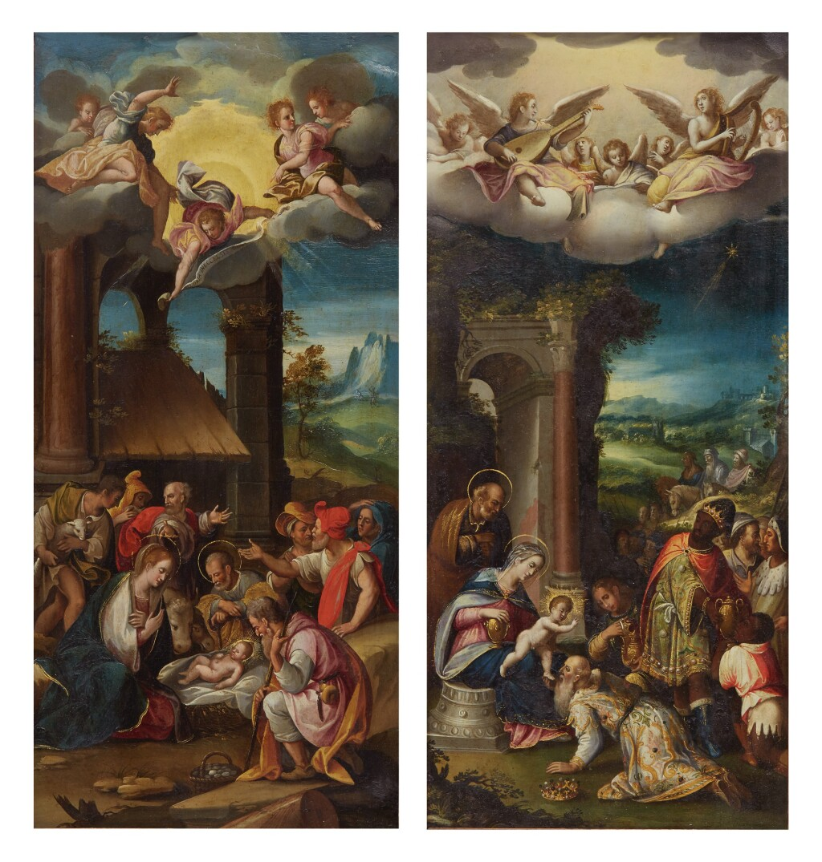PROSPERO FONTANA   ADORATION OF THE SHEPHERDS; ADORATION OF THE MAGI