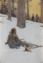 Untitled (Hunter and Deer)