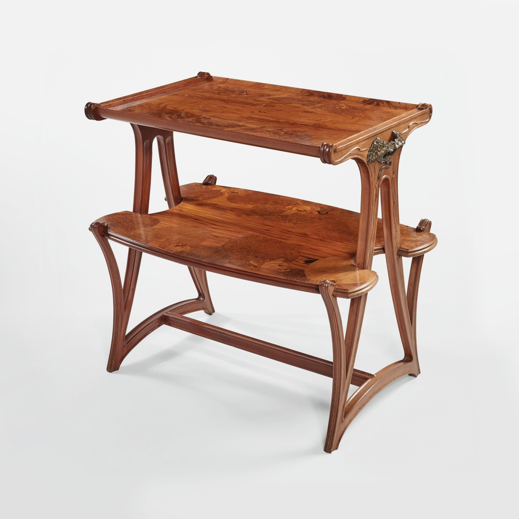 """View full screen - View 1 of Lot 19. """"Butomées"""" Two-Tiered Tea Table."""