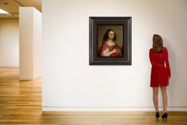 View 4. Thumbnail of Lot 578. JACOB ADRIAENSZ. BACKER | PORTRAIT OF A YOUNG WOMAN HOLDING A FAN.