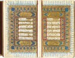 A LARGE ILLUMINATED QUR'AN, COPIED BY HASAN AL-RUSHDI, EGYPT, OTTOMAN, DATED 1170 AH/1757 AD