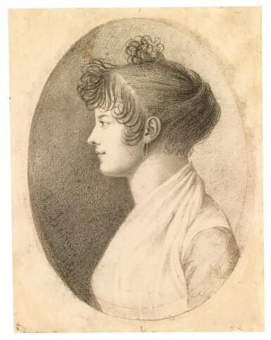 View 2. Thumbnail of Lot 156. Profile portrait of a woman.