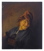 Peasant with a red cap holding a jug
