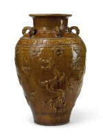 A BROWN-GLAZED STONEWARE MATABAN JAR | 17TH CENTURY