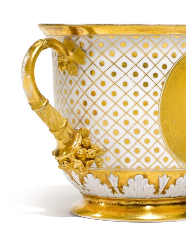 View 3. Thumbnail of Lot 259. A TWO-HANDED PORCELAIN CUP, PROBABLY IMPERIAL PORCELAIN FACTORY, ST PETERSBURG, CIRCA 1820.