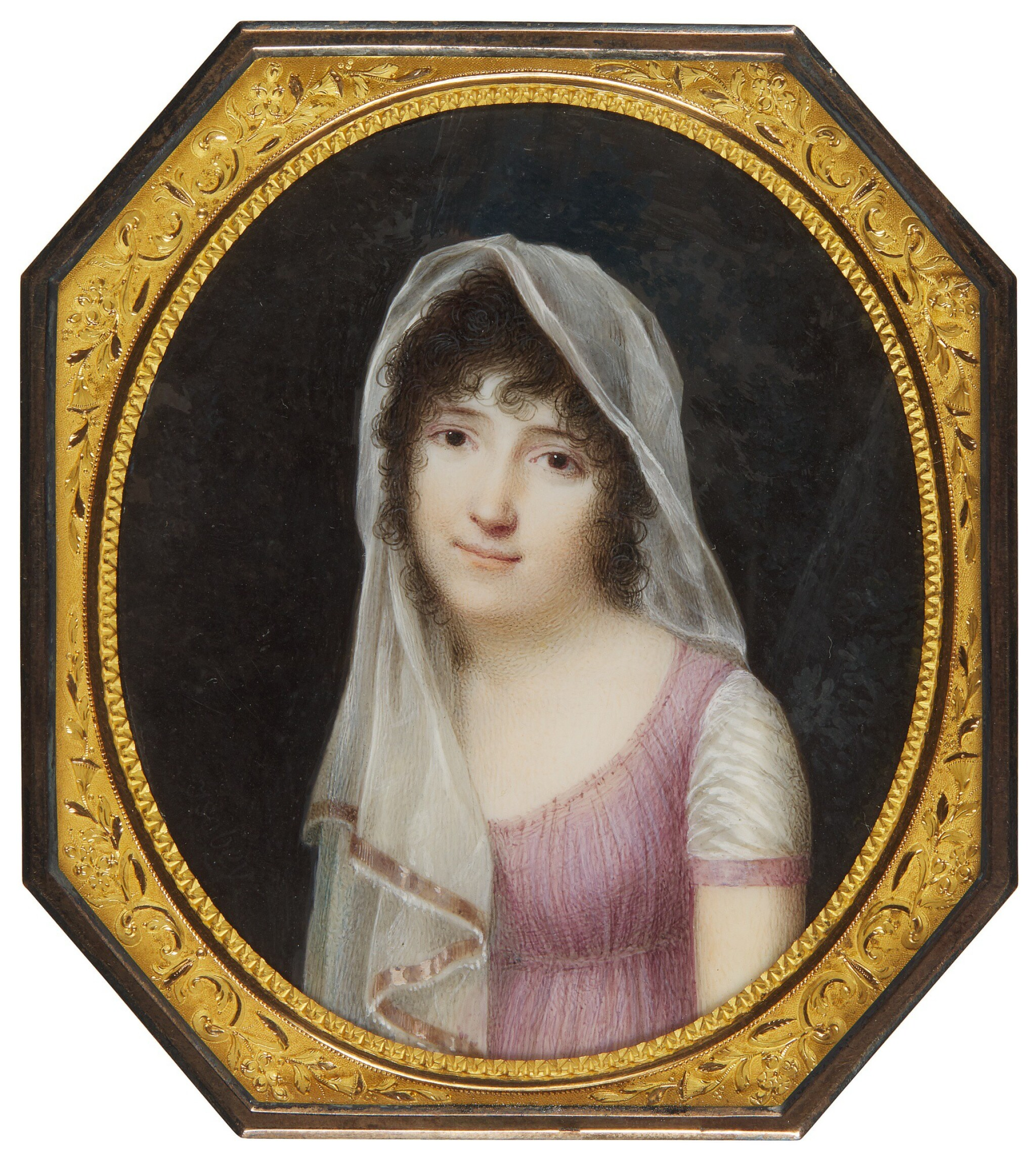 View full screen - View 1 of Lot 351. JEAN-BAPTISTE ISABEY | PORTRAIT OF A LADY, CIRCA 1800.