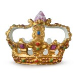 A MEISSEN SMALL TABLE DECORATION IN THE FORM OF A CROWN CIRCA 1750