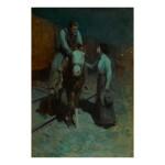 FRANK TENNEY JOHNSON   GIRL AND COWBOY