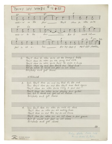 """View 2. Thumbnail of Lot 139. [DYLAN, BOB] 