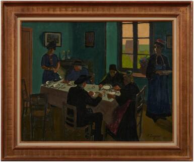 View 2. Thumbnail of Lot 25. Le banquet de la Bretonne, 1920.
