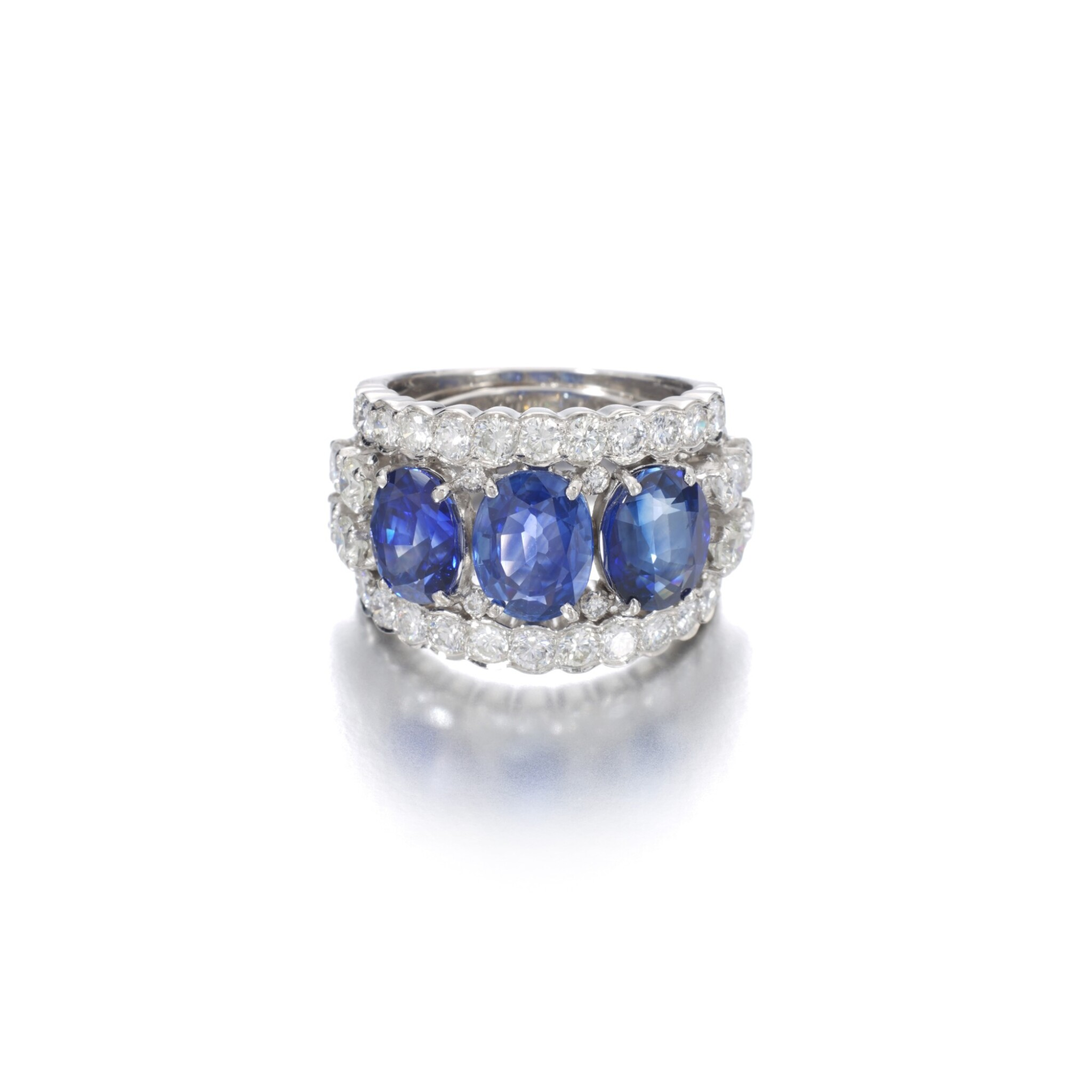 View full screen - View 1 of Lot 1152. Sapphire and diamond ring.