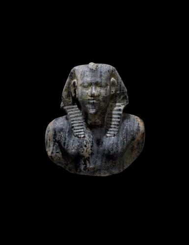 "View 1. Thumbnail of Lot 266. AN EGYPTIAN GNEISS (""CHEPHREN DIORITE"") BUST OF MYCERINUS, 4TH DYNASTY, REIGN OF MYCERINUS, CIRCA 2550-2530 B.C.."